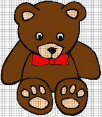 Teddy Bear Chart Teddy Bear Chart Graph And Row By Row Written Instructions 03