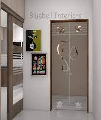 glass double door for pooja room
