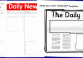 Newspaper Template Sparklebox Printable Newspaper Article Template For Students Of