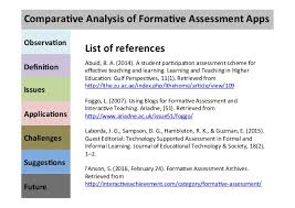 Formal Assessment Custom Comparative Analysis Of Formative Assessment Apps