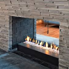 natural gas fireplace contemporary open hearth double sided g series
