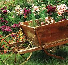 outdoor garden flower wagon country by on