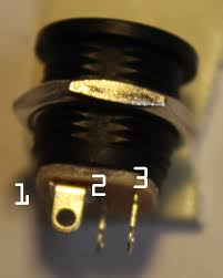 2 1mm boss style switching power socket maker ie side view of the 2 1mm dc power socket showing pinout