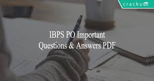 ibps po important questions and answers pdf tricks