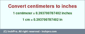 1 Cm In Inches Convert 1 Centimeter To Inches Inchpro Com