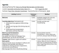 Free 7 Training Agenda Samples In Pdf Word