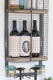 Industrial Bar Cabinet Floating Wall Mount Industrial Modern Cage Wine Bar Liquor Cabinet