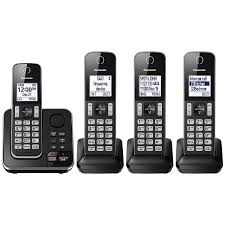 panasonic 4 handset dect cordless phone with answering machine kxtgd394b cordless phones best canada