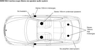 how to wire 6 speakers to a 4 channel head unit how auto wiring bmw e9x audio systems musicarnw com on how to wire 6 speakers to a 4 channel