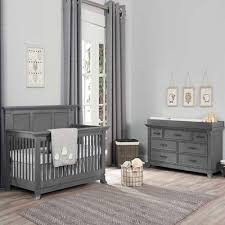 gray nursery furniture. Ozlo Baby Hamilton 2 PC Furniture Set Marble Gray Nursery