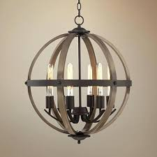 metal orb chandelier 6 light wide dark bronze and wood orb chandelier metal orb chandelier diy