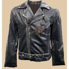 terminator vintage distressed biker jacket arnold schwarzenegger jackets brando leather jackets