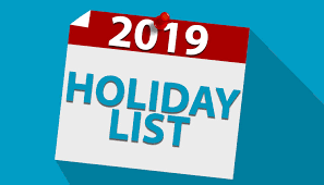 List Of All Bank Holidays & Government Holidays In India In 2019