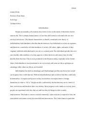english english edwardsburg high school page course 6 pages individualism
