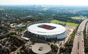 Use the map controls to rotate and zoom the bayer leverkusen stadium view. Bayarena Leverkusen Schlaich Bergermann Partner
