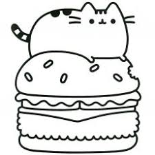 Tremendous Kawaii Cat Coloring Pages With Pusheen Coloring