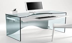 contemporary glass computer desk  callforthedreamcom