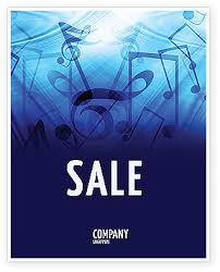 Free Music Poster Templates Sounds Of Music Sale Poster Template In Microsoft Word
