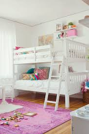 bedrooms for girls with bunk beds. Exellent Bunk Wall Shelves Above Bunk Bed Touring The Wonderfully Whimsical Home Of Kate  Brightbill  Glitter Guide And Bedrooms For Girls With Bunk Beds Pinterest