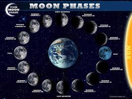Lunar Phase Chart Phases Of The Moon Nature Science Artificial