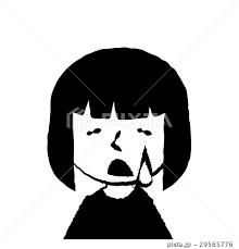 女の子 上半身 泣くのイラスト素材 29565776 Pixta