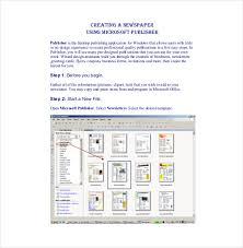 Microsoft Office Publisher Newsletter Templates 8 Microsoft Newsletter Templates Free Sample Example Format