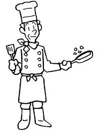 Small Picture Master Chef in Community Helpers Coloring Page NetArt