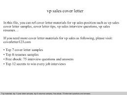 top cover letter vp sales cover letter