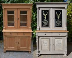 chalk paint furniture before and afterBefore and after  Annie Sloan French Linen Dresser  with