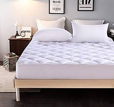thick mattress pad.  Pad Everest Extra Thick Mattress Pad Hypoallergenic Quilted Topper  Deep Pocket Stretch To Fit And