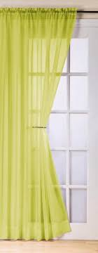 t lime green voile curtain panel