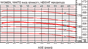 The Average Height For Women With Height Weight Chart