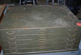 5 Drawer Metal File Cabinet Used Flat Files Roll Files Plan Racks Hoppers Drafting Furniture