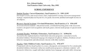 Sample Educator Resumes Resumes Examples For Freshers Educator Resume Examples Sample School
