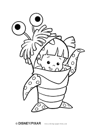 Monsters Inc Coloring Pages Coloring Pages For Kids Disney