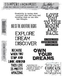 Stampers Anonymous Tim Holtz Rubber Stamps Life Quotes CMS40 Gorgeous Anonymous Quotes About Life