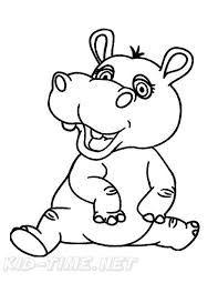 Hippopotamus Hippo Coloring Book Page Free Coloring Book Pages