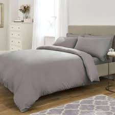 cuddl duds gray plaid flannel duvet cover set soft touch slate grey and pillowcase main