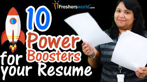 Resume Boosters 24 Power Boosters For Your Resume II Tips For Fresher And 21