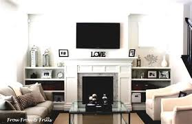 decorating ideas for living rooms with fireplaces and tv