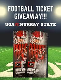 Enter To Win Uga Vs Murray State Football Tickets