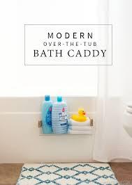 diy modern over the tub bath caddy vintagerevivals com