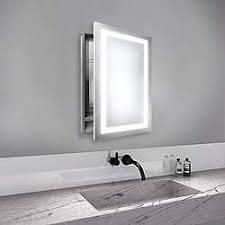 Bathroom mirror cabinets with lights Narrow Bathroom Ambiance Mirrored Cabinet Restoration Hardware Lighted Medicine Cabinets Ylighting
