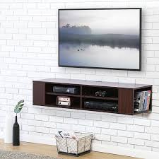 TV console wall mounted floating Wall Mount Media Console Storage Floating  Wall Mounted Shelf for AV Receiver, Component, Cable Box, Playstation4,  Xbox1, ...