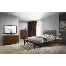 modern bedroom furniture images. Modrest Gibson Modern Grey \u0026 Walnut Bedroom Set Furniture Images