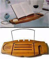 aquala luxury bamboo bathtub caddy. umbra aquala bamboo \u0026 chrome bathtub caddy wine holder book prop soap dish new luxury d