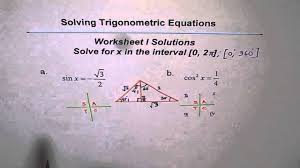 trigonometric equations worksheet i solutions q1 and q2