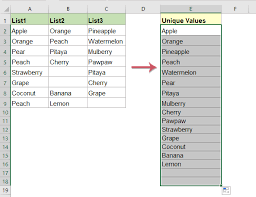 how to extract unique values from