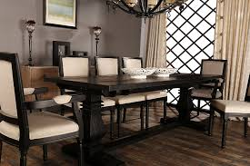 amazon clic rustic style rectangular dining room kitchen table with distressed details black tables