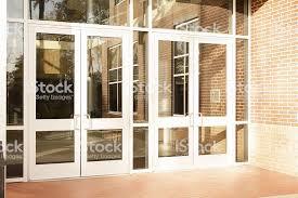 school front door. Delighful Front Business Empty Office Building School Front Doors Are Closed  Royaltyfree Intended School Door P